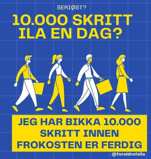 10.000 skritt daglig - foreldrefella